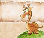 Little funny giraffe — Stock Photo
