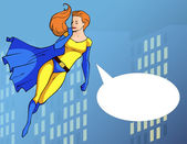 Superhero in bright costume — Stock Vector