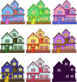 Set of cozy houses — Stockvector