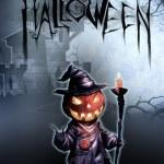 Halloween illustration with Jack O Lantern — Stock Photo #72994971