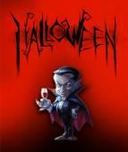 Halloween illustration with Dracula — Stock Photo