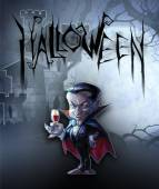 Halloween illustration with Dracula — Stock Photo