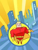 Superhrdina světlý kostým — Stock vektor