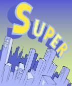 Skyscrapers in super city — Stock Vector