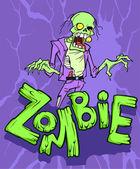 Funny zombie cartoon — Stock Vector