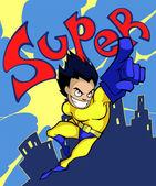 Сlassic superhero сartoon — Stock Vector