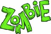 Cartoon zombie word — Stock Vector