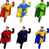 Brave handsome super heros — Stock Vector