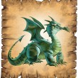 Paper scroll with a dragon — Stock Photo #78783324