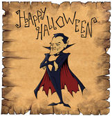 Paper scroll with vampire Dracula — Stock Photo