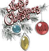 Christmas card illustration — Stock Vector