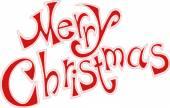 Merry Christmas card tekst — Stockvector