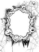 Halloween background frame — Stock Photo