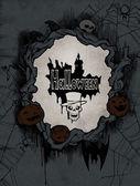 Halloween frame with skeleton — Stock Photo