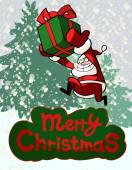 Christmas greeting card with  Santa — Stock Vector