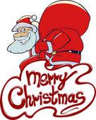 Christmas greeting card with  Santa Claus — Stock Vector