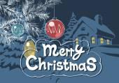 Merry Christmas decoration — Stock Vector