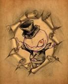 Vintage halloween illustration — Stock Photo