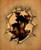 Old vampire castle — Stock Photo