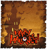 Halloween card with castle — Stock Photo