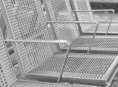 Seats on a railstation — Stock Photo