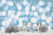 Christmas decoration with light bokeh in the background — Stock Photo