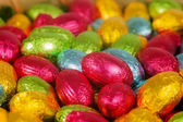 Colorful Chocolate Easter eggs — Stock Photo