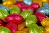 Colorful Chocolate Eggs — Stock Photo