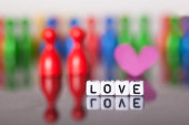 Cube Letters showing the word love — Stock Photo