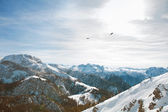 Panorama view from the Jenner mountain — Stock Photo