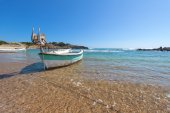 Little boat in a bay — Stock Photo