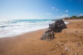Rock on a beach — Stock Photo