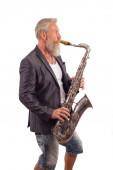 Saxophon speler — Stockfoto