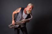 Saxophon player — Stock Photo
