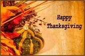 Happy Thanksgiving Card — Stock Photo