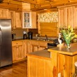 Kitchen in a Log Cabin — Stock Photo #64534293
