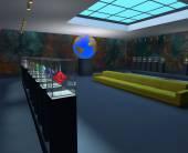 Interior of the exhibition — Stockfoto