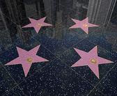 Stars on walk of fame — Stock Photo