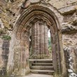 Ruins of Tintern Abbey, a former cistercian church from the 12th — Stock Photo #53832551