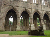 Ruins of Tintern Abbey, a former cistercian church from the 12th — Stock Photo