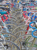 Vintage bicycles nicely parked — Foto Stock