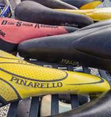 Vintage bicycles on display at L'Eroica, Italy — Stock Photo