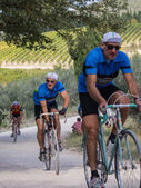 Unidentified partipants of L'Eroica, Italy — Stock Photo