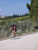 Unidentified partipant of L'Eroica, Italy — Stock Photo