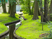 Small winding canal in park — Stock Photo