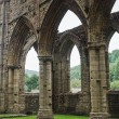 Ruins of Tintern Abbey, a former church in Wales — Stock Photo #63597737