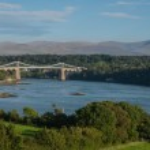 Menai Suspension Bridge, Anglesey, Wales — Stock Photo #65724471
