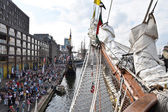 The port of Amsterdam during Sail 2015 — Stock Photo
