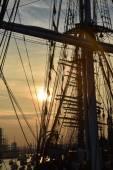 アムステルダムの帆 2015年の夕日 — ストック写真