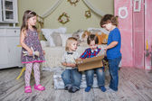 Děti strana — Stock fotografie